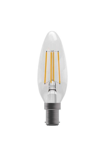 BELL 05306 4W LED Dimmable Filament Candle SBC Clear 2700K